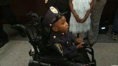 5-year-old Georgia boy with spinal condition sworn in as honorary police officer