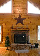 Texas star fireplace