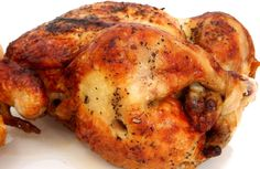 Those rotisserie chickens from the supermarket are a busy cook's best friend. When you have time to plan ahead, make your own--in your slow cooker! Grilling Recipes, Slow Cooker Recipes, Crockpot Recipes, Cooking Recipes, Grilling Ideas, Grilled Chicken Recipes, Healthy Chicken, Grilled Food, Lemon Chicken