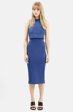Topshop+Sleeveless+Cutout+Midi+Dress+(Nordstrom+Exclusive)+available+at+#Nordstrom