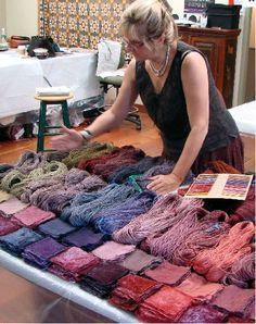 Charllotte Kwon teaching natural dyes at Jane Stafford Textiles on Salt Spring Island this summer!