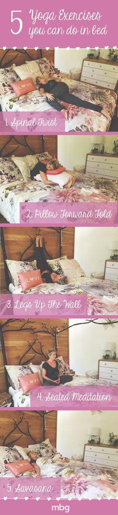 Taking the time to relax and unwind before bed will help you sleep better and in turn make your detox even better. These 5 easy exercises you can do straight from the comfort of your bed, so all you really need to do is go to bed just 5 minutes earlier to give yourself sometime to unwind. Remember clean body, clean mind.