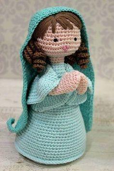 Risultati immagini per Cubby Amigurumi nativity Crochet Amigurumi, Amigurumi Doll, Amigurumi Patterns, Crochet Dolls, Crochet Baby, Knit Crochet, Crochet Patterns, Crochet Crafts, Yarn Crafts