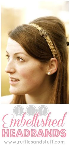 Embellished Headbands by Ruffles and Stuff