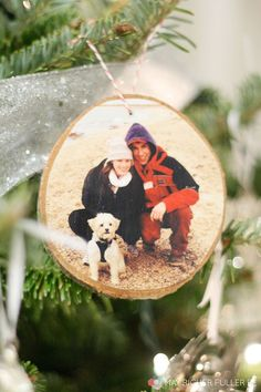 Instagram Wood Slice Christmas Ornament | May Richer Fuller Be