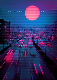 vaporwave city Neon City on Behance Aesthetic Light, City Aesthetic, Purple Aesthetic, Cyberpunk Aesthetic, Cyberpunk City, Aesthetic Backgrounds, Aesthetic Wallpapers, Scenery Photography, Photography Aesthetic