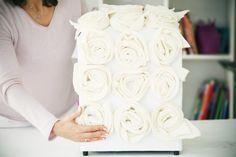 Coisinhas a Mais Etc e Tal: Puff Rosas em Feltro