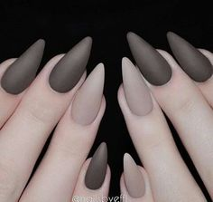 Grey matte nails. Perfect.