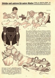 Illustrierte Wäsche- und Handarbeits-Zeitung 1935 heft 4. Baby patterns 140, 141, 142, 143, 316, 317 and Abb. 1. PDF sewing patterns for these models available upon request, please contact me for more information.