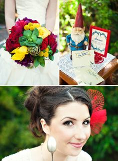 Who doesn't love Amélie!?:) Love the bright + fun details with a bit of quirky in thisAmélieinspired wedding shoot photographed byMelissa Munding.