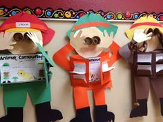 Using our science book, we will make a book about animals: mammals, birds, fish, .... The students will use facts from their reading to create their book on animals.  Then complete the craftivity. Animal Camouflage Reports and Safari Guide