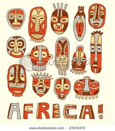 african masks | Next, I gave the students this handout to base their mask design from: