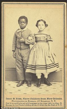 Images of pale mixed-race slaves used to drum up sympathy among wealthy donors in 1860s.   In some, the 'white' children are pictured with darker-skinned former slaves. Organisers hoped their skin would drum up sympathy from northerners  Read more: http://www.dailymail.co.uk/news/article-2107458/The-white-slave-children-New-Orleans-Images-pale-mixed-race-slaves-used-drum-sympathy-funds-wealthy-donors-1860s.html#ixzz2JD25Tr1L