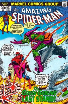 The cover to Amazing Spider-Man #122, the death of the Green Goblin.