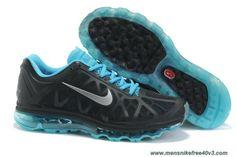 New Nike Air Max 2011 Mens 429889-040 Black Metallic Silver Chlorine Blue