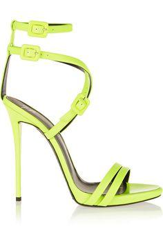 GIUSEPPE ZANOTTI Neon leather sandals $975
