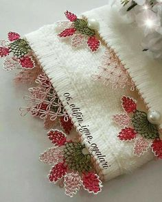 This Pin was discovered by Rab Christmas Stockings, Christmas Wreaths, Saree Tassels, Needle Lace, Houzz, Home Textile, Needlework, Textiles, Embroidery