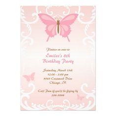 Beautiful Butterfly Invitations