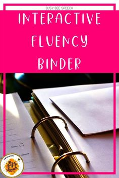 This is the ultimate, interactive fluency binder for speech language pathologists. This is the only interactive binder you will ever need!