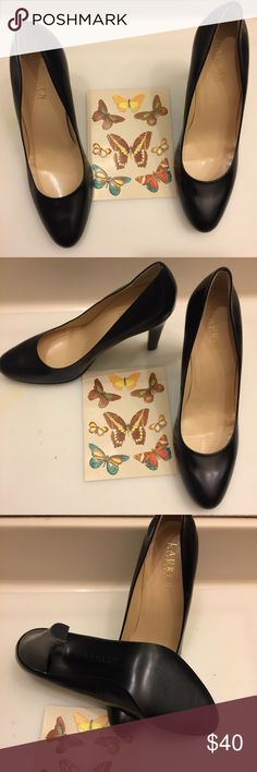 """Lauren Ralph Lauren Pumps Lauren Ralph Lauren Leather Pumps in excellent preowned condition. There is no sign of wear other than been tried on. Please see pictures👀        Size8.5            Color:Black         Heel:3.5""""  ✍🏾FINAL MARKDOWN✍🏾 Lauren Ralph Lauren Shoes Heels"""