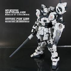 "ughhhhhh this makes me feel so insecure about my gunpla GM Sniper ""Whitewalker"" Barbatos Lupus Rex, Robot Art, Robots, Gundam Astray, Unicorn Gundam, Gundam Custom Build, Futuristic Art, Futuristic Armour, Gunpla Custom"