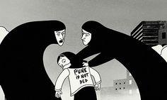 Still from Persepolis, film 2008 Persepolis Film, Feminist Movies, Version Francaise, Iggy Pop, Film D'animation, French Films, Fun Comics, Book Nerd, Animation Movies