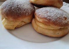 Túróval töltött fánk sütőben   Annamária receptje - Cookpad receptek Hamburger, Bread, Food, Brot, Essen, Baking, Burgers, Meals, Breads