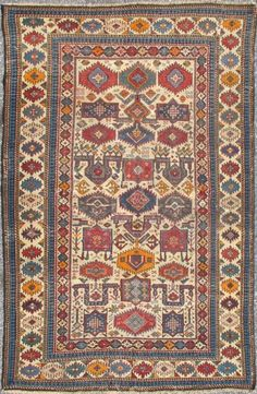 "KEIVAN WOVEN ARTS,   Type :Shirvan Origin :Caucasus  Size : 3'4""x5'2""  Circa :1890"