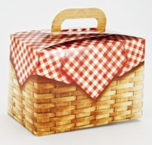 Love our new gabled picnic basket favor boxes. - Jilly Bean Kids