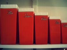 vintage canisters