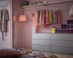 Mehr Platz auf kleiner Fläche | hej.de  // evtl. neben Schrank? Alternative zu Kleiderstange stehend