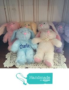Soft lamb personalized easter plush toys easter personalized adorable personalized easter gift plush toy floppy eared bunny blue pink purple white negle Images