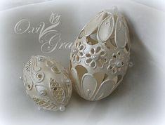 Мама для мам: Красивый декор от Oxi Gra Emu Egg, Egg Shell Art, Carved Eggs, Egg Tree, Easter Egg Designs, Egg Crafts, Faberge Eggs, Ornaments Design, Egg Decorating