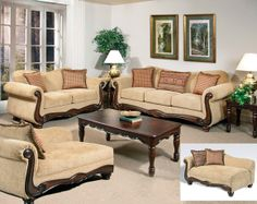 Perfect Thunder Brass Sofa U0026amp; Loveseat | Living Rooms | American Freight  Furniture Living Room Upholstery