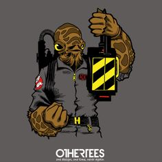 It's a Trap ! by artistjerrybennett Shirt on sale until 18 April on http://othertees.com #starwars #ghostbusters