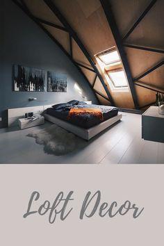Bedroom Ideas! 😍  ArchObraz Architectural Studio   #orderconcept Loft Interiors, Get Some, Your Space, Bedroom Ideas, Studio, Architecture, Design, Home Decor, Arquitetura