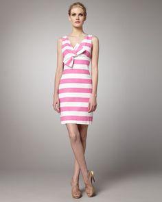 kate spade new york - silver screen striped dress