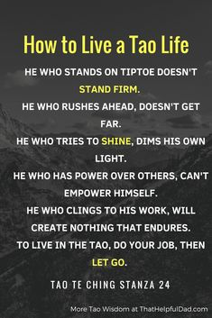 Tao Te Ching - Lao Tzu Quotes and Wisdom for Life   That Helpful Dad