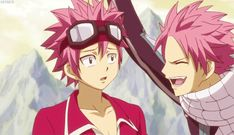 Natsu Dragion & Natsu Dragneel I love how irritated the real natsu looked when he realized the other was crying Fairy Tail Nalu, Fairy Tail Amour, Fairy Tail Funny, Fairy Tail Natsu And Lucy, Fairy Tail Love, Fairy Tail Ships, Gruvia, Fairytail, Otp