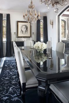 In The Formal Dining Room, The Striking Simplicity Of Platner U0026 Cou0027s Noir Dining  Table