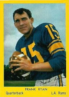 1960 Bell Brand Los Angeles Rams #3 Frank Ryan Front