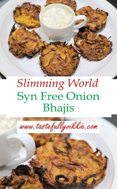 These Syn Free Baked Onion Bhajis are so simple and delicious to compliment any Slimming World curry recipe. via These Syn Free Baked Onion Bhajis are so simple and delicious to compliment any Slimming World curry recipe. Slimming World Vegetarian Recipes, Easy Slimming World Recipes, Vegan Slimming World, Slimming World Treats, Slimming World Dinners, Slimming World Breakfast, Slimming Eats, Slimming World Vegetable Curry, Slimming World Curry Sauce