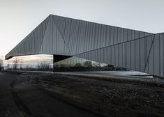Crystalline soccer stadium by Saucier + Perrotte and HCMA