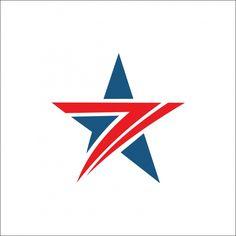 Star Logo Abstract Red And Blue Color S Logo Design, Logo Design Template, Hair Designs For Boys, Color Explosion, S Letter Logo, Wild Logo, Water Logo, Eagle Art, Dog Logo