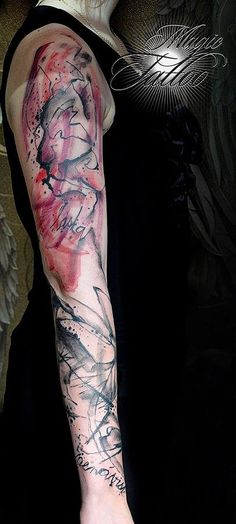 Abstract art tattoo by Tom #tattoo #tattoos #magictattoo