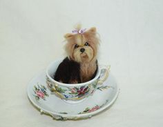 Needle Felted Yorkie puppy dog by amber-rose-creations.deviantart.com on @deviantART
