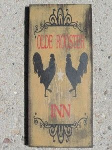 FREE SHIPPING: Olde Rooster Inn 8″ x 18″ sign
