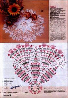 Kira scheme crochet: Scheme crochet no. Free Crochet Doily Patterns, Crochet Doily Diagram, Crochet Motifs, Crochet Circles, Crochet Round, Crochet Chart, Crochet Home, Thread Crochet, Filet Crochet