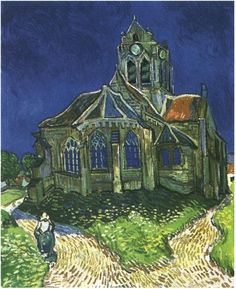 Church at Auvers, The; Auvers-sur-Oise, France; June 1890 ~ No Doctor Who fan can look at this painting the same way ever again. I'm always going to be looking for the monster in the window.