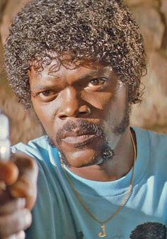 Jules Winnfield (Samuel L. Quentin Tarantino, Tarantino Films, Pulp Fiction Tattoo, Famous Mustaches, Marvin, Crime Film, Black Actors, Film Review, Drama Movies